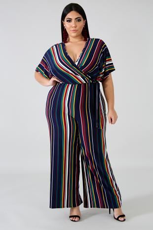 Stripe Season Jumpsuit