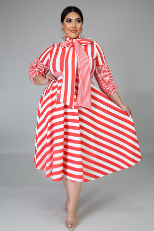 Stripe Down Dress