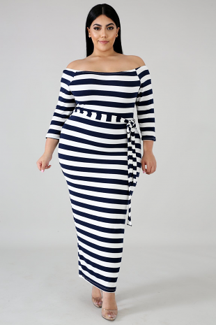 Nautical Midi Dress