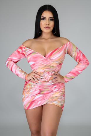 Princess Dye Body-Con Dress