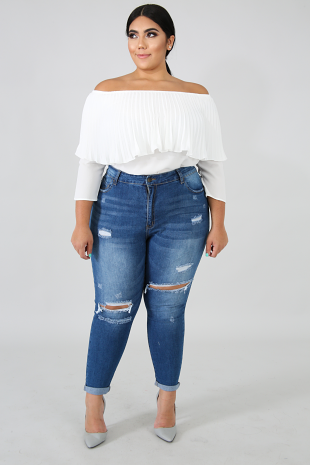 Denim Skinny Crop Jeans