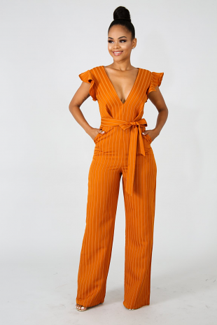 Contemporary Stripe Jumpsuit