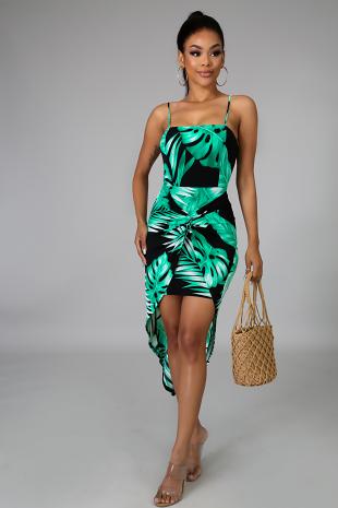 Palm Twist Dress