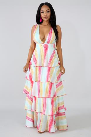 Baby Stripe Maxi Dress