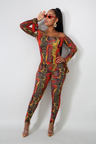 Flaming Bodysuit Set
