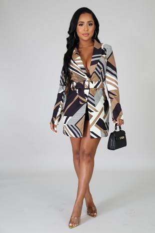 Blazer Asymmetrical Jacket Dress