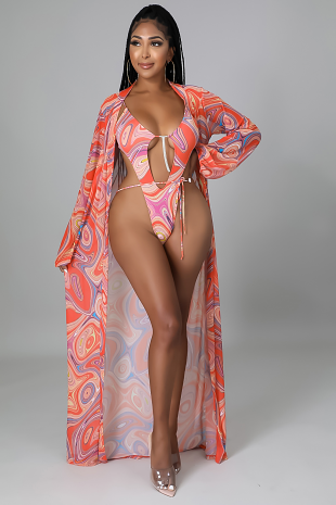 2pc Tropical Trippin' Swimsuit Set