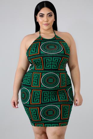 Medallion Maze Body-Con Dress