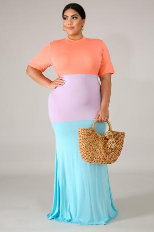 Maxi Toned Dress