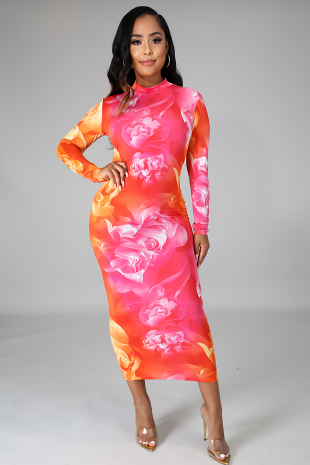 Sunset Floral Dress