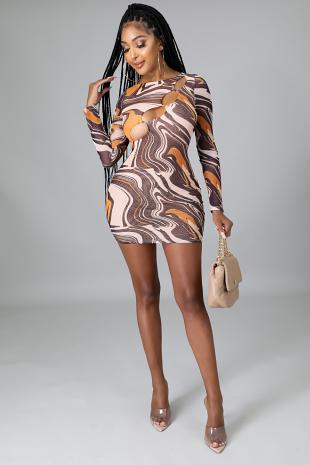 Lil' Bit Of Swirl Dress