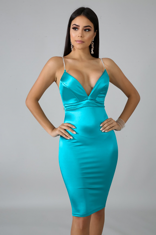 In Love Satin Dress