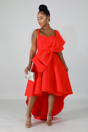 Bow Flare Dress