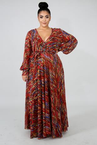 Color Strokes Maxi Dress