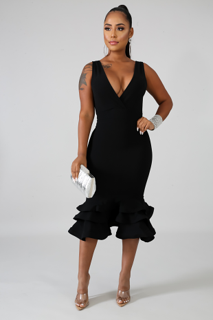 Swirled Midi Dress