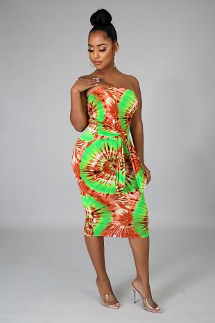 Summer Splash Midi Dress
