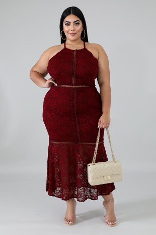 Touch Of Lace Mermaid Dress