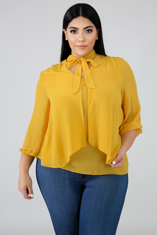 Playful Chiffon Blouse