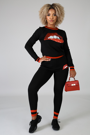 Smackem Lips Jogger Set